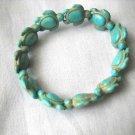TURTLES LIGHT TURQUOISE BLUE COLOR HOWLITE HONU SEA TURTLE STRETCH BRACELET