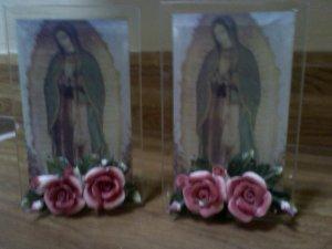 Mother Mary Candle Holder