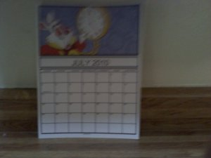 Disney's Alice and wonderland calander