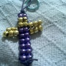 Cross beaded key chain