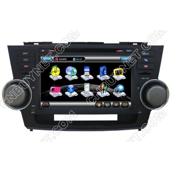 toyota highlander 2008 2010 gps navigation dvd player radio tv. Black Bedroom Furniture Sets. Home Design Ideas