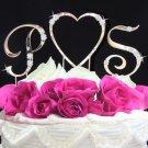 Initials & Heart Cake Topper Set