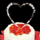 Single Heart Crystal Accented Cake Topper