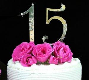 Sweet 15 & Sweet 16 Cake Topper