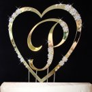 Single Heart with Large Letter Cake Topper Set