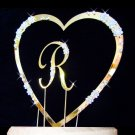 Single Heart with Small Letter Cake Topper Set