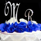 Mr Crystal Initial Cake Topper Set