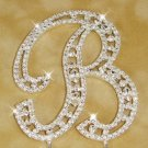 Large Swarovski Crystal Initial Wedding Cake Topper