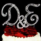 Swarovski Crystal Monogram Wedding Cake Topper Set