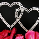 Swarovski Crystal Double Heart Wedding Cake Topper