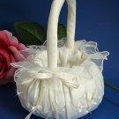 Pretty Bridal Flower Girl Basket with Rhinestone Accent