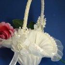 Ivory Bridal Flower Girl Basket FB 4