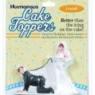 Humorous cake topper - leash