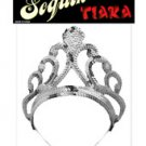 Princess sequin tiara - silver