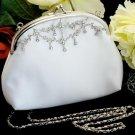 Beautiful WhiteTrim Encrusted Bridal Purse BP 5
