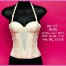 Long Line Lace Bra #7231 White, Beige or Black