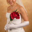Ring Finger Bridal Glove GL217-12A