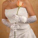 Bridal Ring Finger Satin Gloves GL9055-12A