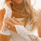 Embroidered Fingerless Bridal Gloves GL8001-8E