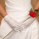 Matte Satin Wrist Length Bridal Gloves Style GL MW
