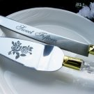Sweet Fifteen Cake Server Set - Acrylic Handle with Gold Accent CS 15