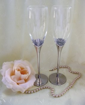 Wedding Toasting Crystal Flutes 21084