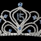 Light Blue Sweet 15 or Sweet 16 Tiara HP 242