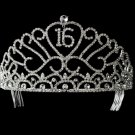 Sweet 15 or Sweet 16 Crystal Tiara HP- 209