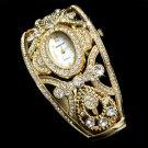 Gold Rhinestone Crystal Bridal Watch 10