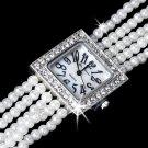 Rhinestone Crystal Bridal Watch 20 Silver