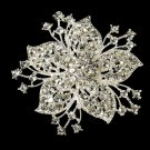 Crystal Starburst Bridal Brooch 3175