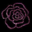 Cubic Zirconia Fuchsia Rose Bridal Brooch 6277