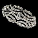 Silver Vintage Style Cubic Zirconia Crystal Brooch 3163