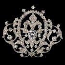 Elegant Vintage Crystal Bridal Pin for Hair or Gown Brooch 8007