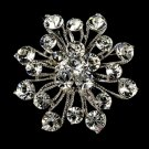 Elegant Vintage Crystal Bridal Pin for Hair or Gown Brooch 10 Silver Clear