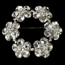 Elegant Vintage Crystal Bridal Pin for Hair or Gown Brooch 21 Silver Clear