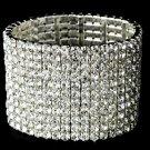 Glamorous 11 Row Rhinestone Stretch Bracelet B 10301