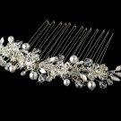 Crystal & Pearl Bridal Hair Comb 8839