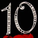 10th Anniversary, 10th Birthday Swarovski Crystal Cake Topper