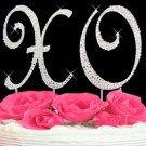 Swarovski Crystal XO Hugs & Kisses Cake Top Set