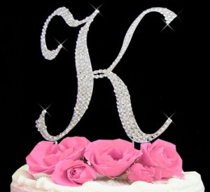 Swarovski Crystal Wedding Cake Topper
