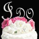 """Swarovski Crystal """"I Do"""" Wedding Cake Topper"""