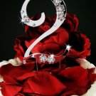 2nd Birthday or Anniversary Wedding Crystal Cake Topper