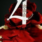 Number Crystal Accented Cake Topper