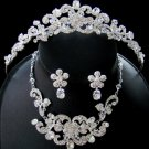 Crystal Couture Tiara Jewelry Set NE 7210 & HP 7088