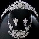 Crystal Couture Tiara Jewelry Set NE 7210 & HP 7088