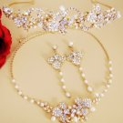 Gold Couture Bridal Necklace & Earring 7803 & HP 7803 (Gold or Silver)