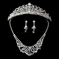 Swaroski Crystal Jewelry & Tiara Set HP 7093 & NE 7209