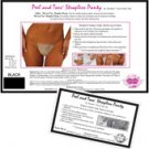 Shibue peel & toss strapless panty black - asst. sizes box of 36