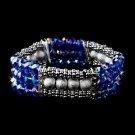 Festive Blue Aurora Borealis Crystal Bracelet 8503